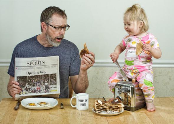 Папа и его дочка